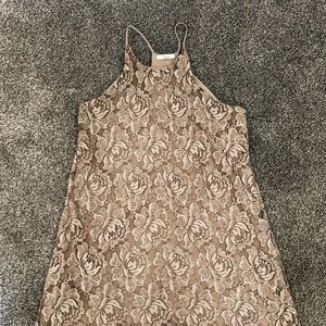 Soprano Taupe Lace Dress